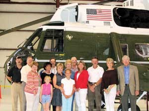 President's Helicopter, Vice-Presidential Rally Use Vecellio & Grogan's Hangar