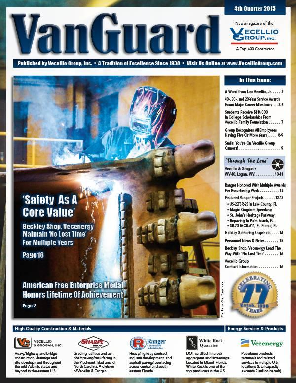 Vecellio Group's VanGuard Online Magazine Cover